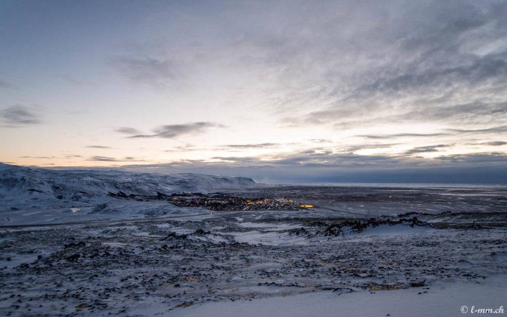 Vue depuis la route 1 entre Reykjavik et Selfoss - Islande